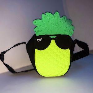 PINK Victoria's Secret Neon Yellow Pineapple Cooler Bag